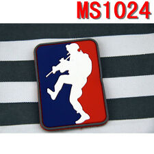 New Militaria Figure Climbing Design Rubberized Patch Magic Back Patches