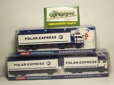 Kombiangebot: 1x Scania Hz u.1x Volvo F 88 Sz Polar-Express Wiking 1:87 Sondermo