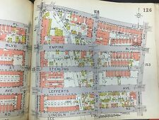ORIG 1929 BELCHER HYDE CROWN HEIGHTS BROOKLYN PREP BROOKLYN NY PLAT ATLAS MAP