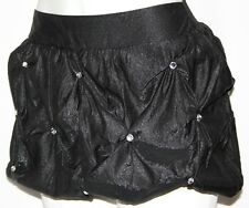 S Boho Rhinestone Steam Punk Burlesque Lolita Emo Gothic Goth Bubble Mini Skirt