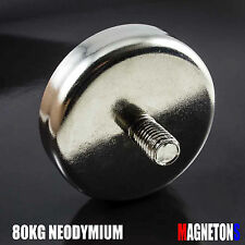 Neodymium Magnet POT 48mm x 11mm N35 HANDLE PULL MAX 80kg MAGNETIC Neodym