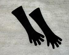 "For 18"" 20"" Revlon Vintage Fashion Doll: LONG Black Over the Elbow GLOVES"