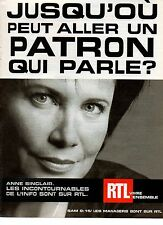 Publicité Advertising RADIO RTL ANNE SINCLAIR