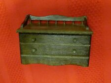 VINTAGE CONCORD DOLLHOUSE MINIATURE WOOD BLANKET CHEST BENCH
