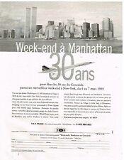 Publicité Advertising 1998 Anniversaire Avion Concorde 30 ans