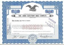 THE ARRO EXPANSION BOLT COMPANY....1963 STOCK CERTIFICATE