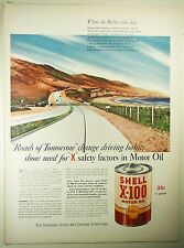 Vintage 1941 SHELL GASOLINE Lg Magazine Print Ad: ROADS OF TOMORROW