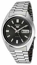 BRAND NEW Seiko 5 Gents BLACK Dial Automatic Stainless Steel Watch SNXS79 G'tee