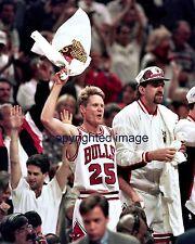 Steve Kerr 1992-98 Chicago Bulls -  Golden State Warriors Coach  Color 8x10 A