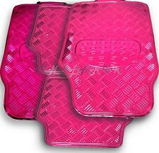 PINK checker plate mat set car 4x4 race chequer  mats HEAVY race girly