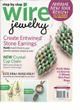 STEP BY STEP WIRE JEWELRY  JUNE / JULY, 2015 ( CREATE ENTWINED STONE EARRINGS )