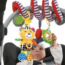 Baby Kids Plush Cartoon Toys Teether Bed Stroller Hanging Handbell Musical Toy #
