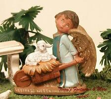 "FONTANINI DEPOSE ITALY 3"" SELA ANGEL w/LAMB NATIVITY CHERUB 54056 NIB"