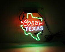 TN139 Coors TEXAS US Lite Miller Bud Beer Bar Pub Real Neon Light Sign 14x9