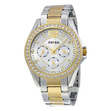 Fossil Women's ES3204 Riley Multi-Function Two-Tone Stainless Steel Watch