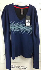 Helly Hansen Odin, LS V-neck Sweater, Sports Wear - Evening Blue - Blouse