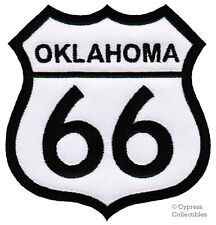 ROUTE 66 OKLAHOMA iron-on MOTORCYCLE BIKER PATCH new ROAD SIGN embroidered