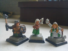 FENRYLL-FEMALE DWARFS-DWARF-DWARVES-PARTIALLY PAINTED-WARHAMMER