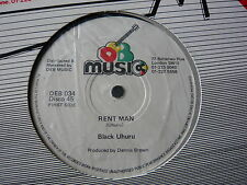 "BLACK UHURU...RENT MAN...ROOTS REGGAE OG CLASSIC 12"" SINGLE...MINTY CRISP"