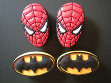 JIBBITZ CROC CLOG SHOE CHARM 4 SPIDERMAN BATMAN FIT BRACELET BELTS