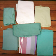 Lot of 7 Vintage Green White Pastel Textured Quilt Cutter Fabric Pieces