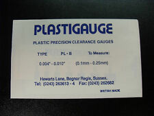 CLASSIC ENGINE BUILDERS  BLUE PLASTIGAUGE  (Precision Clearance Gauges)