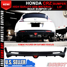 11-14 Honda Crz Cr-Z 2Dr Mugen Rear Bumper Lip Spoiler Black ABS