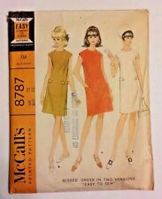 Vintage 1960 McCall's Shift Dress Pattern #8787 Size 12 Bust 32