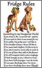 "Hungarian Vizsla Dog Gift - Large Fridge Rules flexible Magnet 6"" x 4"""