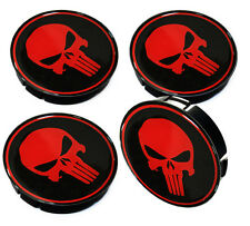 4 x THE PUNISHER RADKAPPEN NABENKAPPEN NABENDECKEL FELGENDECKEL VW AUDI BMW A 63