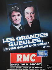 PUBLICITÉ RMC INFO TALK SPORT LES GRANDES GUEULES LE VRAI SHOW D'OPINION 11H-14H