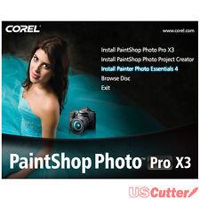 Corel PaintShop Photo Pro X3 OEM DVD - Edit Photos Authentic Sealed USCutter