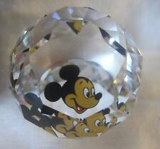 Swarovski Disney MICKEY MOUSE Head Shot Paperweight 30mm Retired 1990s