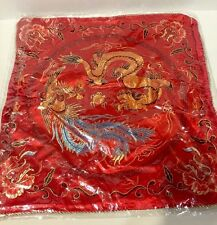 Pair Of Chinese Dragon Throw Pillow Case Cushion Cover Home Decor-2pcs New