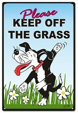 Please Keep Off The Grass Doggie Sign