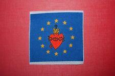écusson insigne tissu religieux Scapulaire Sacré Cœur de Jésus Europe scoutisme