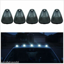 5 Pcs 12V Smoked Lens White LED Vehicle Truck Top Roof Cab Marker Running Lights