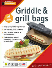 2 X PANINI GRILL BAGS - REUSEABLE UP TO 50 TIMES EACH - TOASTABAGS