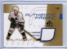 01/02 SP GAME USED MARKUS NASLUND AF FABRICS JERSEY GOLD /300 VANCOUVER CANUCKS