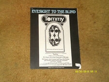 THE WHO sheet music Eyesight to the Blind from 1975 film TOMMY 4 pages (NM)