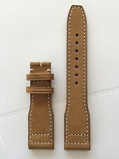 22mm genuine leather watch band strap for iwc big pilot fit 22mm watch case lug