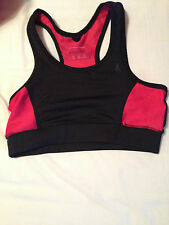 Womens Sports Bra/Top Black And Pink From Primark Very Supportive