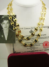 """Jackie Kennedy Anchor Link Necklace   36"""" Original Pacakaging"""