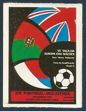 PANINI FOOTBALL 84-#262-PORTUGAL V ENGLAND-1975