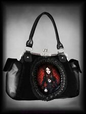 Victorian Handbag Granny bag Red Doll Lace Gothic black Velvet Goth