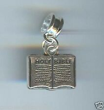 HOLY BIBLE BOOK fits European & Charm Bracelets, CLASP, CLIP ON - F478