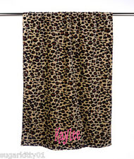 "PERSONALIZED Velour Beach or Bath Towel Leopard Print 30"" x 60"" Free Shipping"