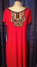Beaded Ronnie Nicole Dress size 20 oh so slim lining