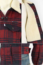 New Levi's Men's Sherpa Trucker Jacket Tibetan Red #0028 Free Shipping Size: XXL