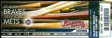 2011 Braves vs Mets Ticket: Tim Hudson struck out 10/Chipper Jones hit RBI singl